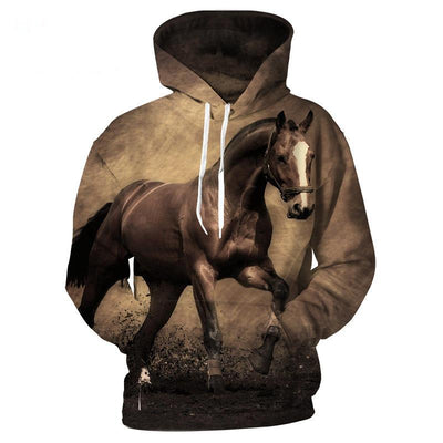 3D Animal Horse Printed Hoodies Men Women - Mirage Novelty World