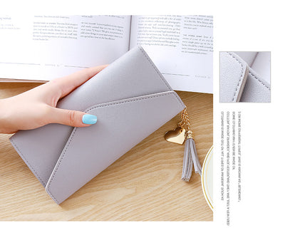 Long Wallet Women Purses Tassel Fashion Coin Purse Card Holder Wallets - Mirage Novelty World