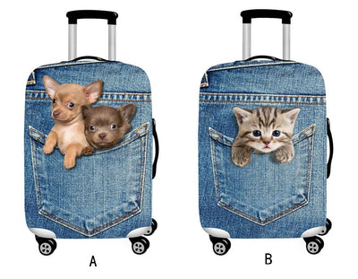 Cute Animal 3D Pattern Travel Luggage Protection Cover,18-32 Inch Suitcase - Mirage Novelty World