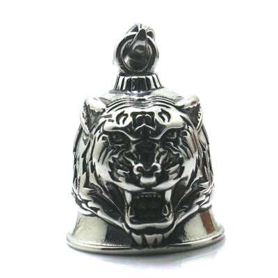 Men Boy 316L Stainless Silver Tiger Biker Bell Pendant Newest - Mirage Novelty World