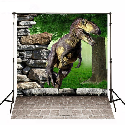 Dinosaur Party Backdrop Jurassic Park Party Backdrop 3D Photography Background For Photo Studio - Mirage Novelty World
