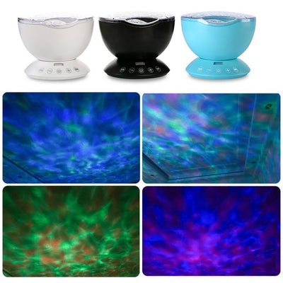7 Color USB Ocean Wave Starry Sky LED Projector Night Light Novelty RC Lamp Illusion Light - Mirage Novelty World