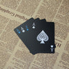 55pcs/deck waterproof plastic pvc playing cards set pure color black poker card sets - Mirage Novelty World