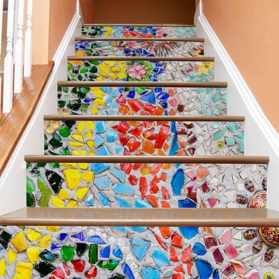 Stone portes decoration Landscape 3D Stairs Stickers Home Decorative Stair Wall Decal - Mirage Novelty World