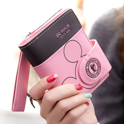 Women small wallet cartoon mickey cute coin purse hasp card holder womens wallets - Mirage Novelty World