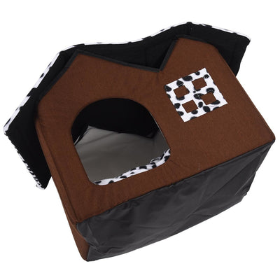 Pet House Luxury High-End Double Dog Room Brown House 55 x 40 x 42 cm - Mirage Novelty World