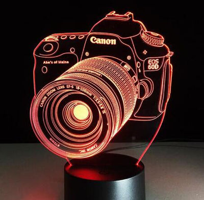 3D Camera Illusion LED USB Lamp - Mirage Novelty World
