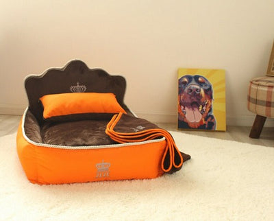 Luxury Princess Pet Bed With Pillow Blanket Dog Cat Sofa Bed Mat Dog House - Mirage Novelty World