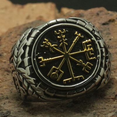 Mens Boy 316L Stainless Steel Cool Battle Vikings Round Ring Biker Band Or Party Ring Good Gift - Mirage Novelty World