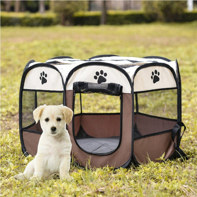 Portable Folding Pet Tent Dog House Kennel Outdoor - Mirage Novelty World