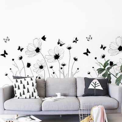 PVC Black And White Butterfly Wall Decals Wall Stickers Home Decor Living Room Stickers Muraux - Mirage Novelty World