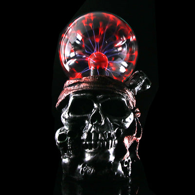 Pirate Skull With Red Bandana Night Light Plasma Ball Lamp - Mirage Novelty World