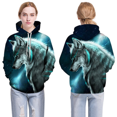 3D wolf print Hoodies Men Sweatshirt Harajuku Hoody Pullover Tracksuits Streatwear Coat - Mirage Novelty World