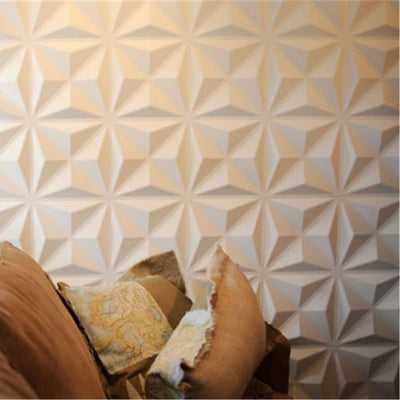 4PCS PVC 3D Wall Stickers White Wall Panel Flame-retardant Waterproof Wallpaper 30x30CM - Mirage Novelty World