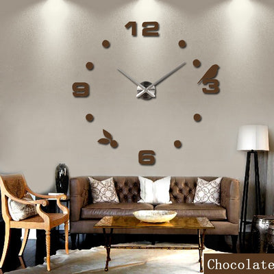 real metal 3d diy acrylic mirror wall clock watch clocks home decoration modern needle quartz stickers - Mirage Novelty World
