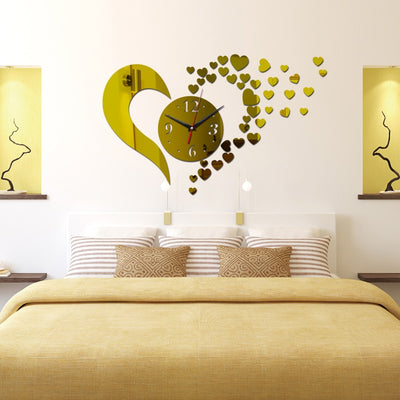 3d wall clock home decoration Quartz Geometric diy crystal mirror art - Mirage Novelty World