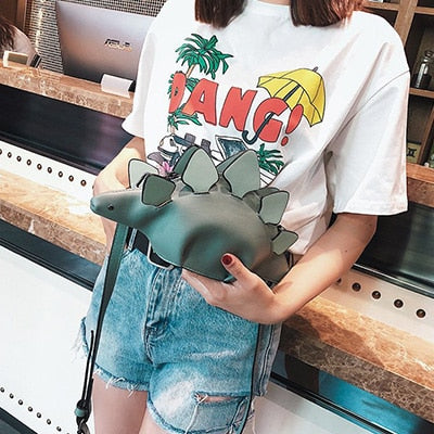 Creative Chameleon Cartoon Handbags Flap 3D Funny Dinosaur Animal Messenger Bag - Mirage Novelty World