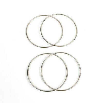 1sets Four Connected Linking Rings 4 Linking Rings  Steel Pipe diameter 10cm street Magic Tricks - Mirage Novelty World