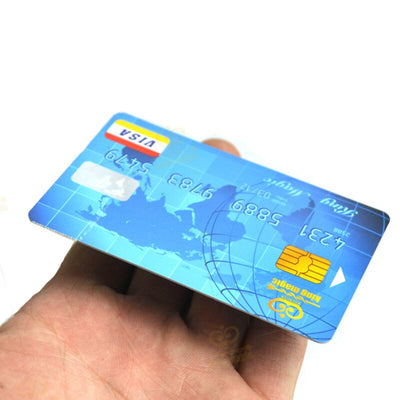 Floating Credit Card Magic Tricks 2Pcs Credit Card + 1 Pcs PVC Transparent Bar Magic - Mirage Novelty World