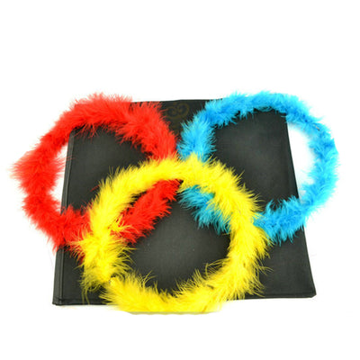 Color changing feather circle magic tricks A full set of Complimentary scarf magic tricks - Mirage Novelty World