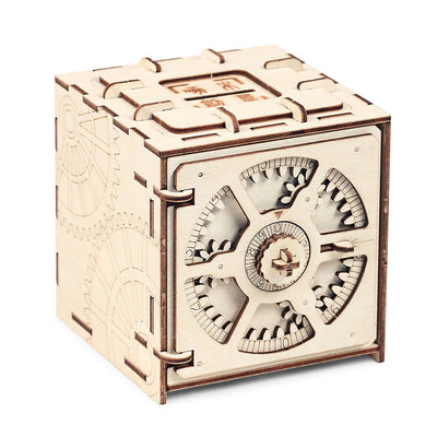 Cipher Code Deposit Box 3D Puzzles Mechanical Wooden Model Puzzle Educational Toys Assembly And Detailed Stitching Steps - Mirage Novelty World