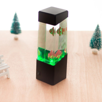 Mini Desktop Decorative Acrylic Ecological Fish Tank Light Small Magic LED Colorful Jellyfish Aquarium Lamp - Mirage Novelty World