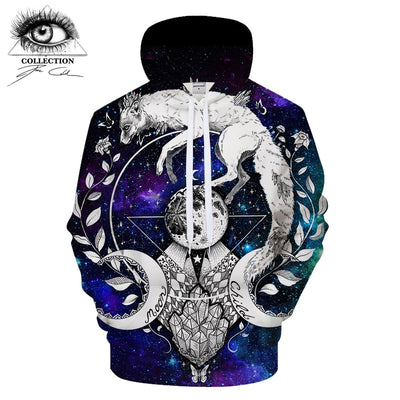 Moon child blanket By PixiecoldArt 3D Galaxy Print Hoodies Men - Mirage Novelty World