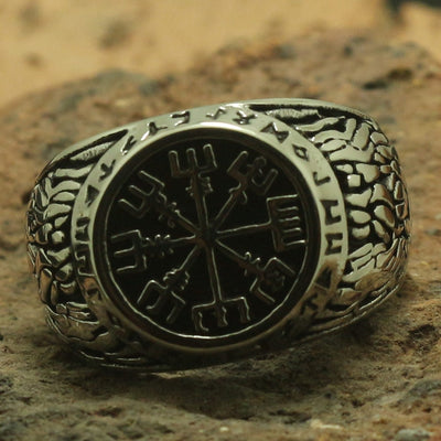 316L Stainless Steel Silver Vikings Classic Cool Ring or Party Ring Gift For Friend - Mirage Novelty World