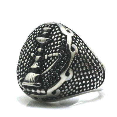 316L Stainle Steel Punk Gothic Cool Shisha Ring - Mirage Novelty World