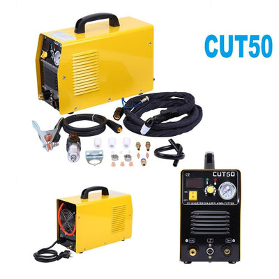 Portable Electric Digital Plasma Cutter Cut50 110V 50AMP Compatible&Accessories