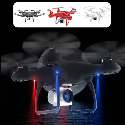S28 RC Drone with Camera 1080P HD 2.4G Selfie Quadcopter Aircraft  Wifi FPV Altitude Hold Head 3D Flip 18min Long Flight - Mirage Novelty World