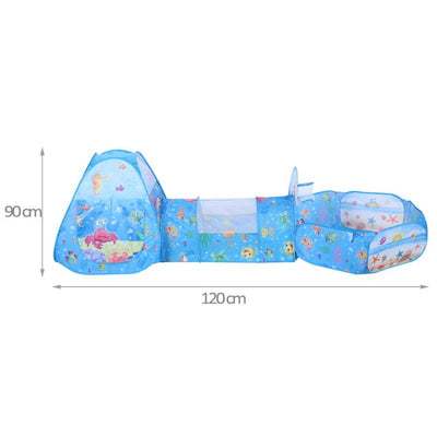 3pcs/set children's Portable inflatable Folded tent ball pool Playhouses For Kids Baby - Mirage Novelty World