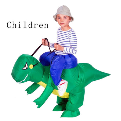Adult Or Kids Inflatable Ride On Walking  Dinosaur Costume For Women Man Children Fancy Dress - Mirage Novelty World
