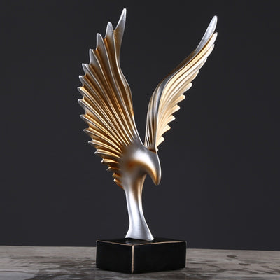 American Abstract Mirs Wings Figurines Resin Ornaments Creative Wings Statue - Mirage Novelty World