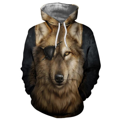 Men's 3D print wolf Hoodie Sweatshirts Top Men/Women Fashion Couple Tracksuits Harajuku - Mirage Novelty World