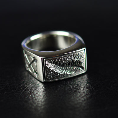 925 sterling silver feather man ring - Mirage Novelty World
