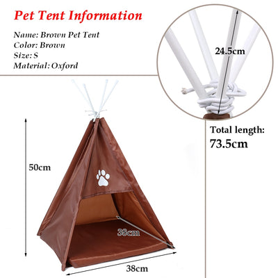 Pet Foldable House Tent Shaped Pet Cozy House Bed Cat Home - Mirage Novelty World