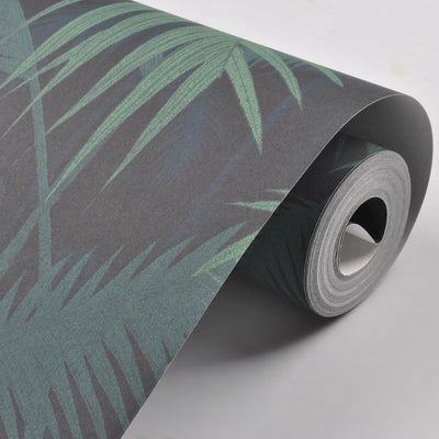 Green Tropical Jungles Palm Tree Leaves Woods Wallpaper Roll Floral Forest Natural Plant Non-woven Wall Paper - Mirage Novelty World