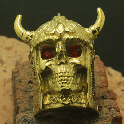 Mens Boy 316L Stainless Steel Cool Battle Vikings Skull Ring Biker Band Or Party Ring Good Gift - Mirage Novelty World