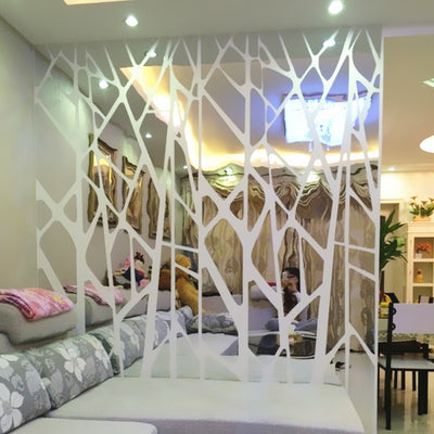 DIY creative geometric patterns mirror surface wall sticker 3d wall decal art - Mirage Novelty World