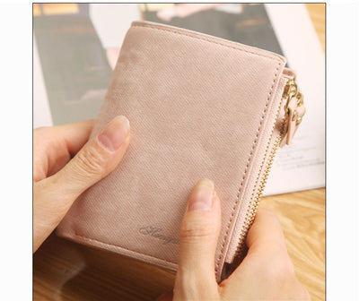 Fashion Top Quality Small Wallet PU Matte Leather Purse Short Female Wallet - Mirage Novelty World