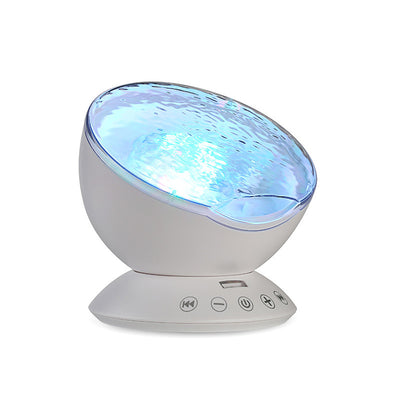 Luminous Toys Night Sleep Light Star Sky Ocean Wave Music Player Projector Lamp Kids LED Sleep Appease Lights Gifts - Mirage Novelty World