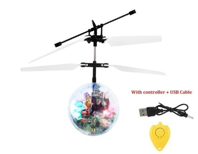 Colorful Flying Ball RC Luminous Kid's Flying Balls Anti-stress Drone Helicopter Infrared Induction Aircraft Remote Control Toys - Mirage Novelty World