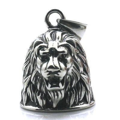 Mens Boys 316L Stainless Silver Big Lion Jingle Bell Cool&Hot Newest Pendant - Mirage Novelty World