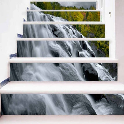 6 Pcs trap stickers tegels landscape Stairway stickers escalier Tiles Pattern - Mirage Novelty World