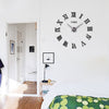 3d big acrylic mirror wall clock diy quartz watch still life clocks modern home decoration living room stickers - Mirage Novelty World