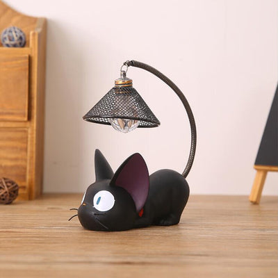 Resin Cat Home Decoration Accessorie Miniature Cute Cat Night Light Decor - Mirage Novelty World