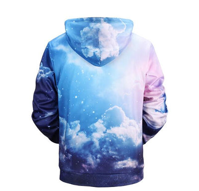 Men Cotton 3D Printed Sky Casual Male Sweatshirts - Mirage Novelty World
