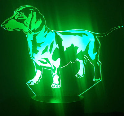 Kingchip Bulldog Poodle Jack Russell Terrier Rottweiler Dobermann 3D Visual Illusion Lamp - Mirage Novelty World