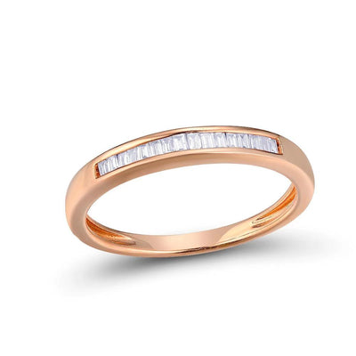 Gold Rings For Women Genuine 14K 585 Rose Gold Ring Sparkling Diamond Glamorous Engagement Round Rings Fine Jewelry - Mirage Novelty World